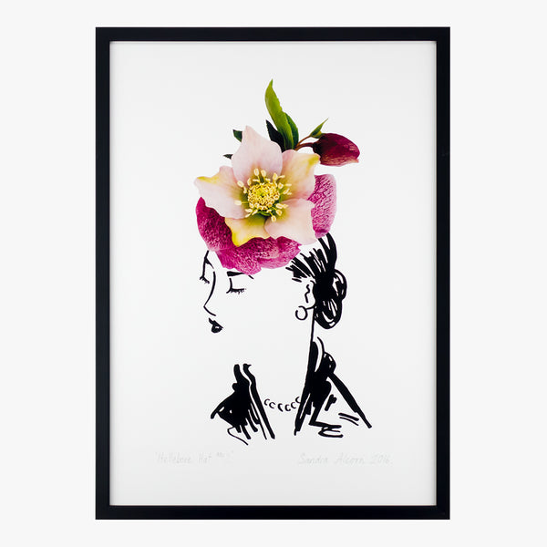 hellebore hat two art print by petal & pins