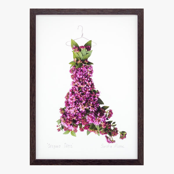 oregano dress art print from the Garden Fairy's Wardrobe by petal & pins