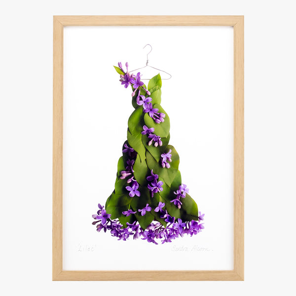 lilac dress art print by petal & pins