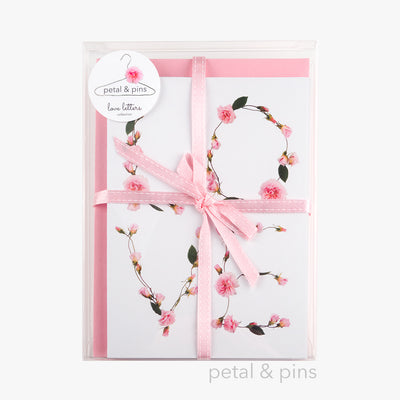 love letters box set of six greeting cards by petal & pins