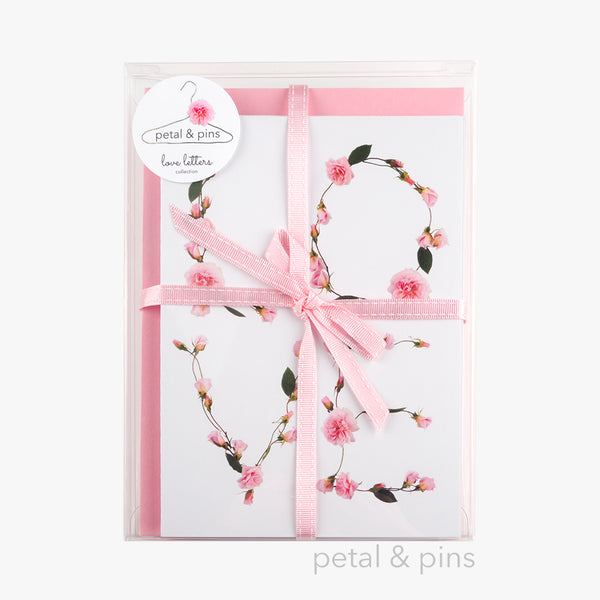 love letters box set of six cards by petal & pins