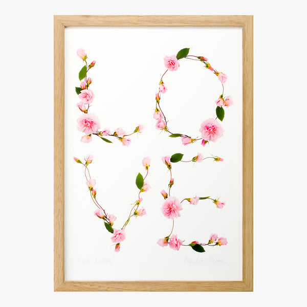 love letters art print by petal & pins
