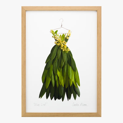 olive leaf dress art print by petal & pins