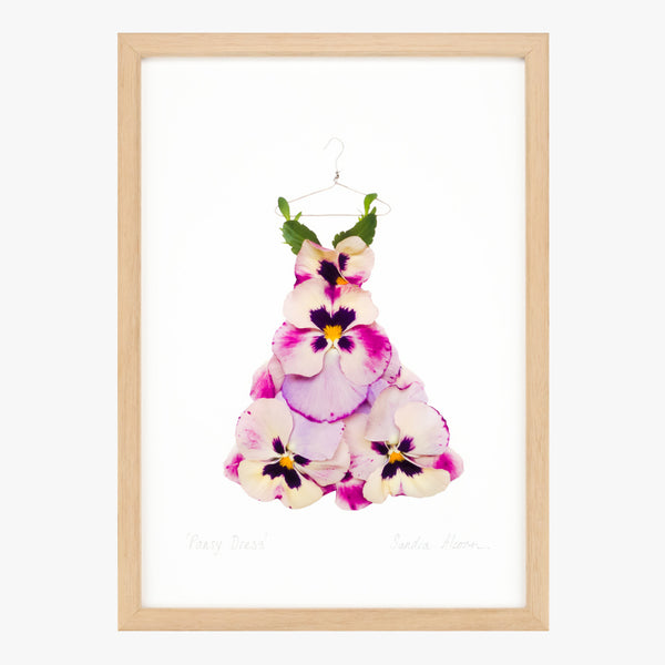 pansy dress art print by petal & pins