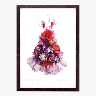 patchwork dress art print by petal & pins