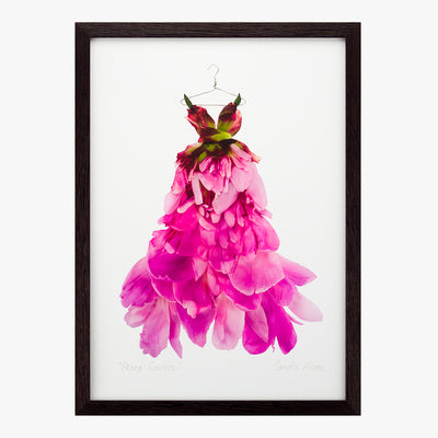 peony couture dress art print by petal & pins