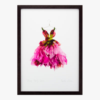 peony party dress art print by petal & pins