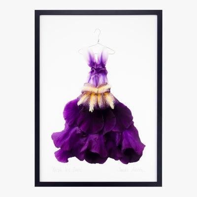 purple iris dress art print by petal & pins