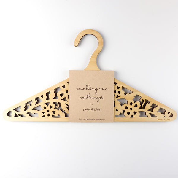 rambling rose coat hanger by petal & pins