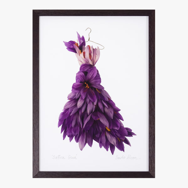 saffron gown art print by petal & pins