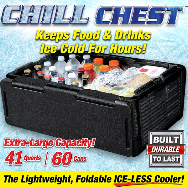 Chill Chest Cooler – 60 Cans, Collapsible, Insulated, Lightweight, Portable, Waterproof – Great for Parties, Picnics, Camping, Beach, Tailgating, Fishing, Hunting, Boating and More! - AMAZOFFER