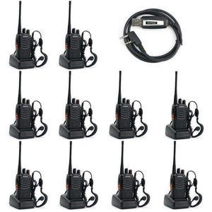 best walkie talkies Two Way Radio (Pack of 10) and USB Programming Cable (1PC) - AMAZOFFER
