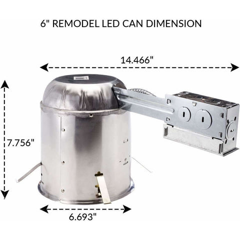 "Image of Lighting 10 PACK - 6"" inch Remodel LED Can Air Tight IC Housing LED Recessed Lighting - AMAZOFFER"