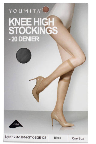 Image of Ladies fashion knee high stockings for everyday use - AMAZOFFER