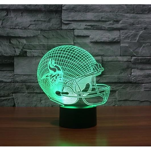 Team Logo Collection Vikings Colorful 3D Color Changing LED 7 colors. - AMAZOFFER