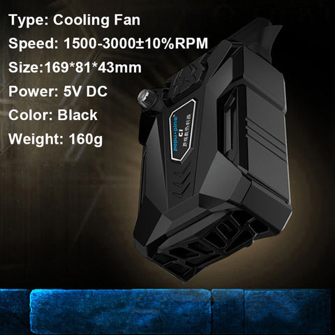 Image of Laptop Fan Cooler with Rapid Cooling, Auto-Temp Detection, Perfect for Gaming Laptop, Nintendo Switch - AMAZOFFER