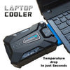 Laptop Fan Cooler with Rapid Cooling, Auto-Temp Detection, Perfect for Gaming Laptop, Nintendo Switch - AMAZOFFER