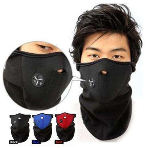 Thermal Neck warmers Fleece Balaclavas CS Hat Headgear Winter Skiing Ear Windproof Warm - AMAZOFFER