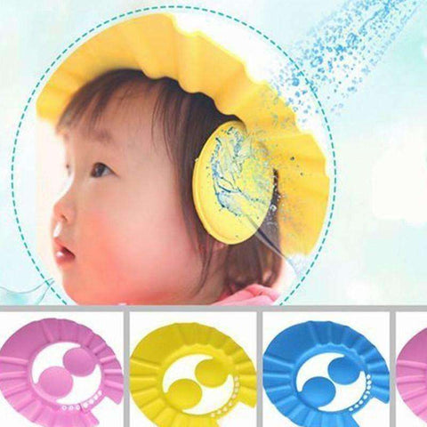Image of wholesale Adjustable Baby Kids Shampoo Bath Bathing Shower Cap - AMAZOFFER
