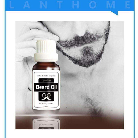 Natural Beard Oil Plus Argan OiL Beard Hair Wax Balm Organic Beard Conditioner - AMAZOFFER