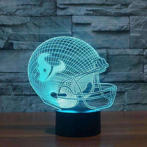 Houston Texans Team Logo Collection Colorful 3D Color Changing Decor Light LED Table Lamp - AMAZOFFER