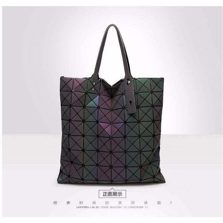 Bags Women Geometry Folding Bag Luminous Handbags Tote Bao Bao Women Messenger Shoulder Bags Clutch bolso mujer - AMAZOFFER