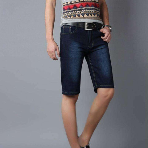 Image of New Summer Men shorts Fashion Short Jeans Male casual denim pants capris - AMAZOFFER