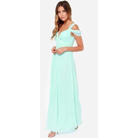 Image of HAOYIHUI Brand New Summer Vestidos Floor Length Solid Dinner Sexy Dress Side Slit V Neck - AMAZOFFER