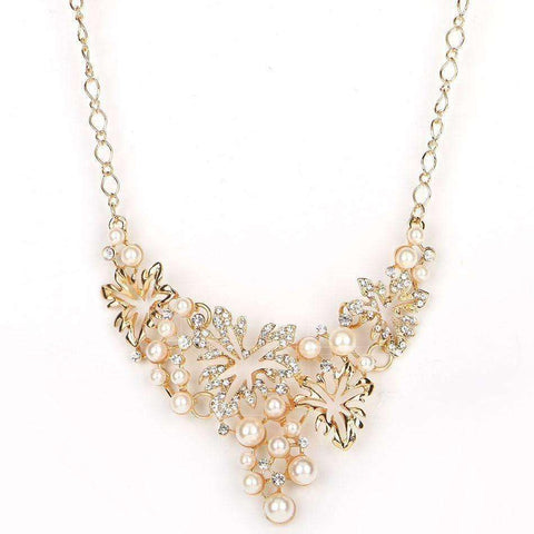 Image of Women Necklace Simulated Pearl Statement Necklaces Pendants Trendy Jewelry Necklace - AMAZOFFER