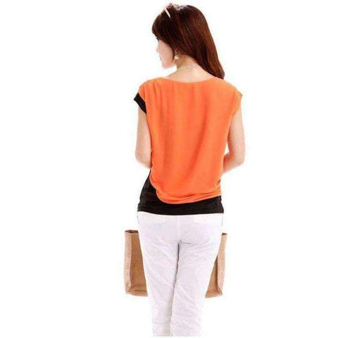 Image of Fashion Women Summer Tops Short Sleeve Casual Top T-Shirt Hot - AMAZOFFER