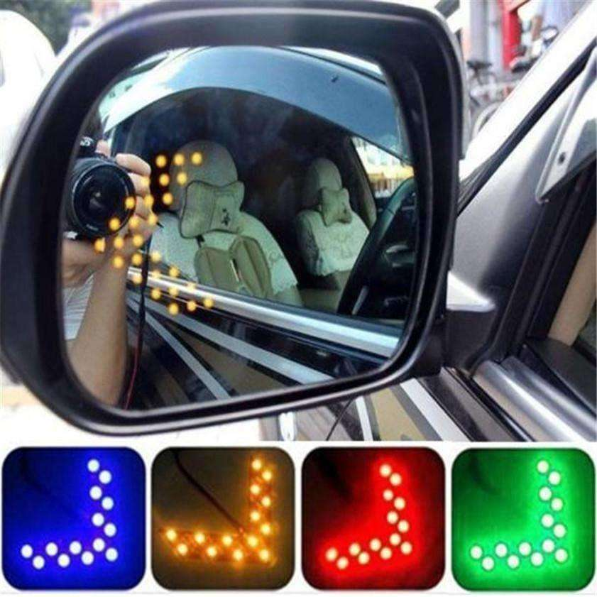 High Quality  14 SMD LED Arrow Panel For Car Rear View Mirror Indicator Turn Signal Light - AMAZOFFER