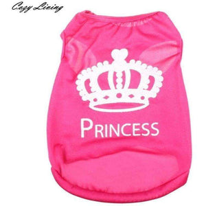 Pet Clothes For Small Dog  Apparel Vest Costumes Summer Imperial Crown Printed Coat Princess