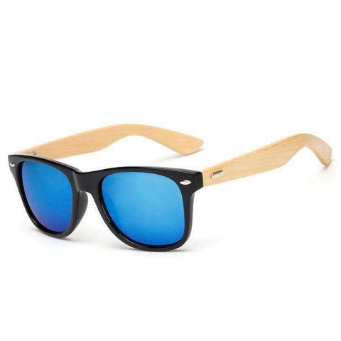 Wood Sunglasses Men women square bamboo Women for women men Mirror Sun Glasses - AMAZOFFER