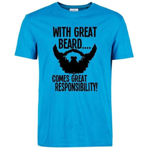 Image of t shirt streetwear hip-hop funny Brand clothing with great beard - AMAZOFFER