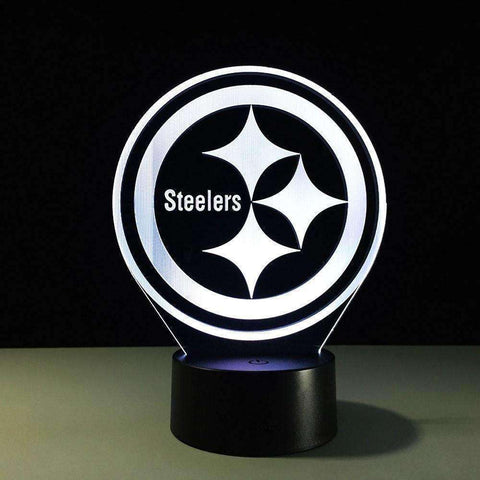 Image of Fantastic 3D Table Lights Team Logo Pittsburgh Steelers Night Light - AMAZOFFER