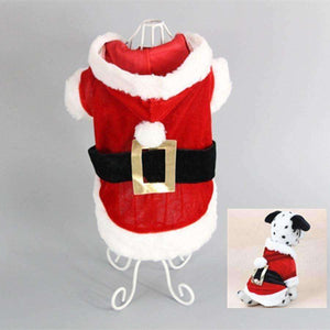 New Puppy Dog Santa Costume Christmas Pet Clothes Hoodie Coat Clothing for Dog Chihuahua - AMAZOFFER