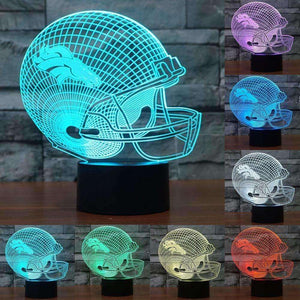 Denver Broncos 3D Night Light 7 color changing acrylic USB table desk Lamp - AMAZOFFER