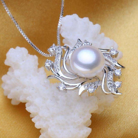 Image of flower pearl necklaces & pendants Pearl Jewelry christmas gift bohemian vintage necklace women - AMAZOFFER