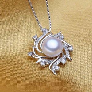 flower pearl necklaces & pendants Pearl Jewelry christmas gift bohemian vintage necklace women