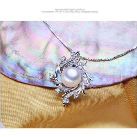 flower pearl necklaces & pendants Pearl Jewelry christmas gift bohemian vintage necklace women - AMAZOFFER