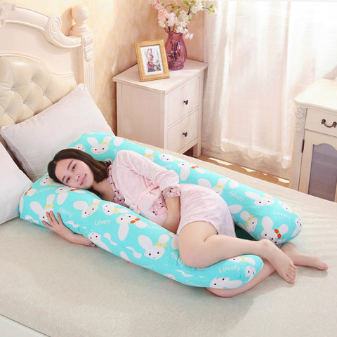 Image of pregnancy Comfortable U shape Maternity pillows Body cartoon pregnancy pillow Women pregnant Side Sleepers cushion - AMAZOFFER