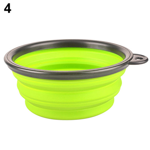 Hot!  Silicone Travel Dog Bowl Collapsible Premium Quality Food Water Pet Travel Bowl - AMAZOFFER