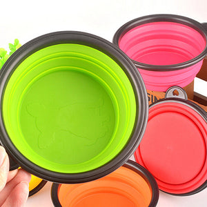 Hot!  Silicone Travel Dog Bowl Collapsible Premium Quality Food Water Pet Travel Bowl