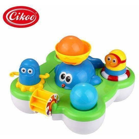 Baby Fountain Bath Toy for Children Douche Kids Electric Floating Spraying Water - AMAZOFFER