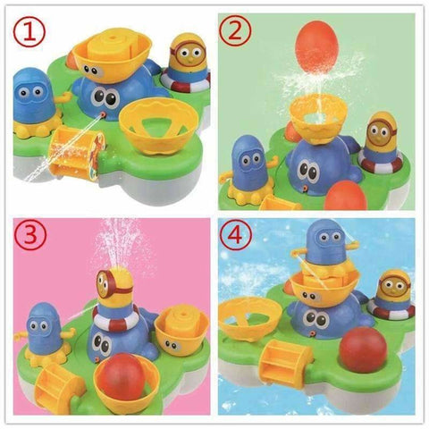 Image of Baby Fountain Bath Toy for Children Douche Kids Electric Floating Spraying Water - AMAZOFFER