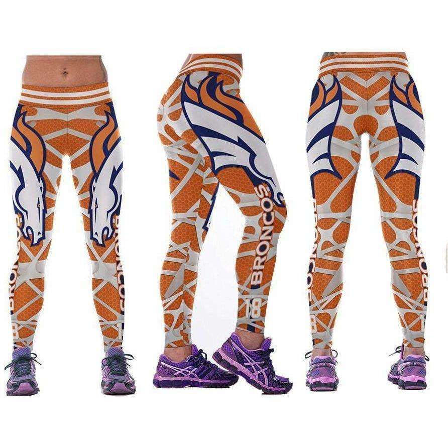 Workout American Football Leggings for Women 3D Printed Sports Legins Yoga Pants - AMAZOFFER