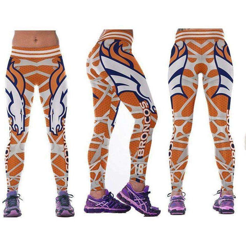Image of Workout American Football Leggings for Women 3D Printed Sports Legins Yoga Pants - AMAZOFFER