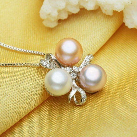 Image of FENASY Fine Jewelry Pearl necklace ,Bohemia 2017 White pink purple pearl jewelry charm necklace - AMAZOFFER