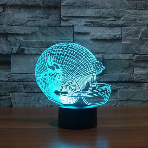 Image of Team Logo Collection Vikings Colorful 3D Color Changing LED 7 colors. - AMAZOFFER