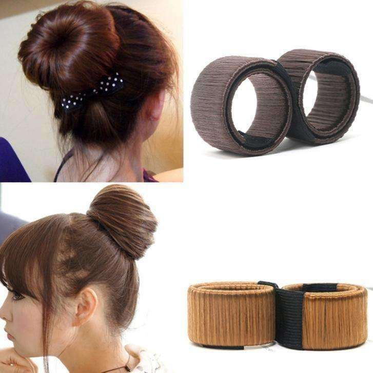 Hair Accessories  Hair Bun Maker French Dish Made Hair Band - AMAZOFFER
